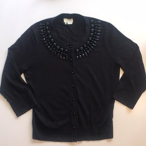 Kate Spade Embellished Black Cardigan
